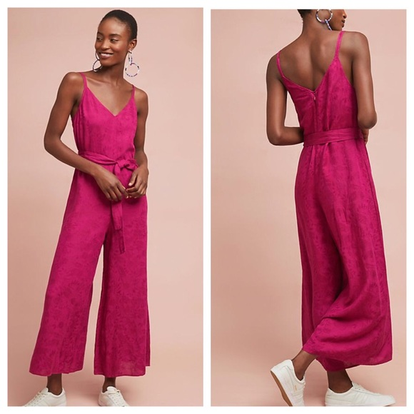d69f2c7ccb9 Anthropologie jetsetter Cropped Jumpsuit